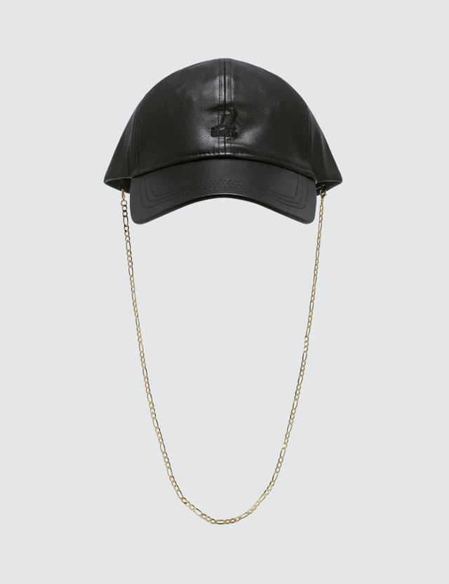 Kangol Faux Luxe Leather Baseball Cap