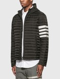 Thom Browne 4 Bar Stripe Downfill Qulited Hooded Jacket Black Men