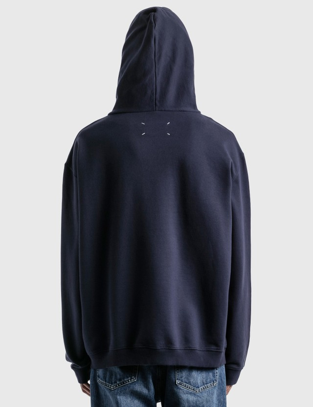 Maison Margiela Numbers Logo Embroidered Hoodie Indigo Men