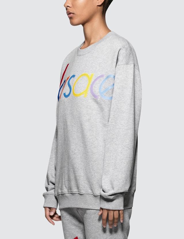 Versace Rainbow Color Logo Sweatshirt