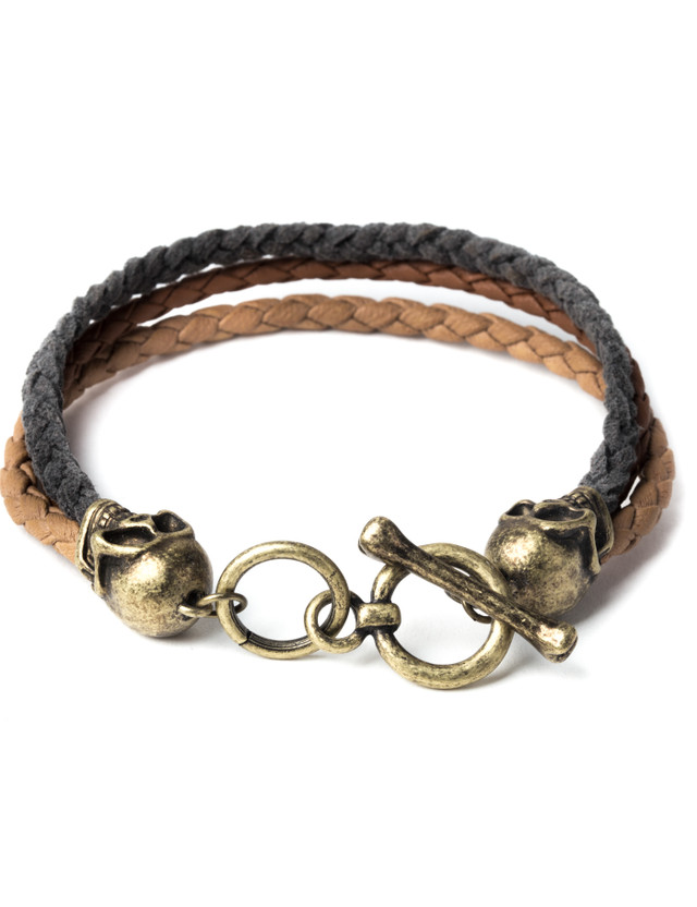 Icon Brand Brown Band of Skulls Bracelet