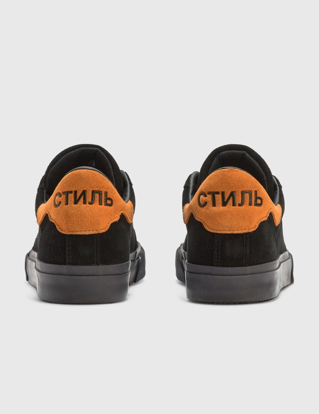 Heron Preston Vulcanized Sneaker Black Orange Men