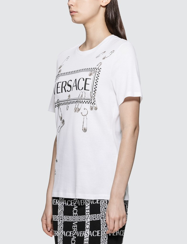 Versace Box Logo With Pins T-shirt