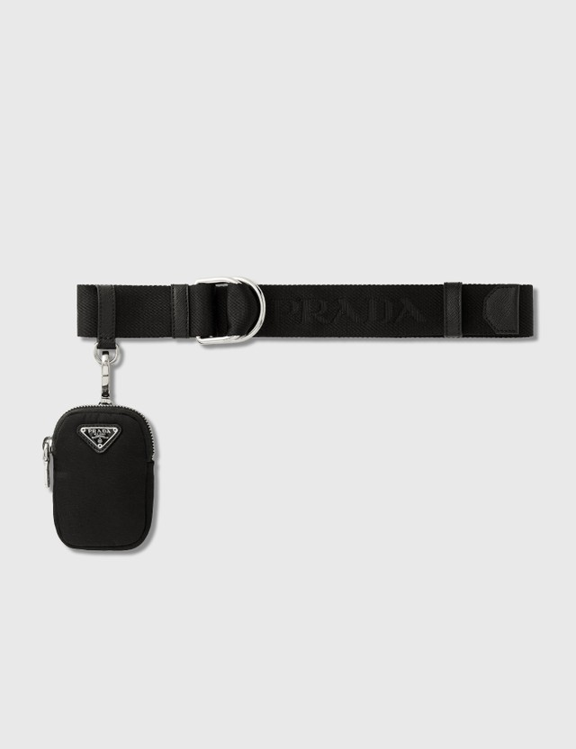 Prada Belt With Nylon Pocket