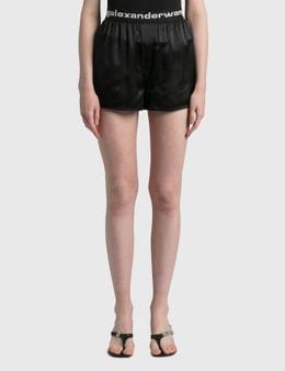 Alexander Wang.T Logo Elastic Silk Shorts