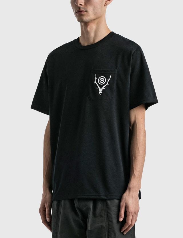South2 West8 Round Pocket Ss T-shirt Black Men