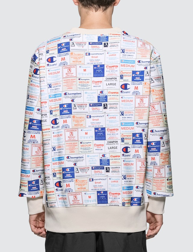 Champion Reverse Weave All Over Print Sweatshirt Allover Men