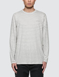Norse Projects James Logo Stripe L/S T-Shirt Picture