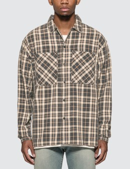 Represent Washed Flannel Shirt