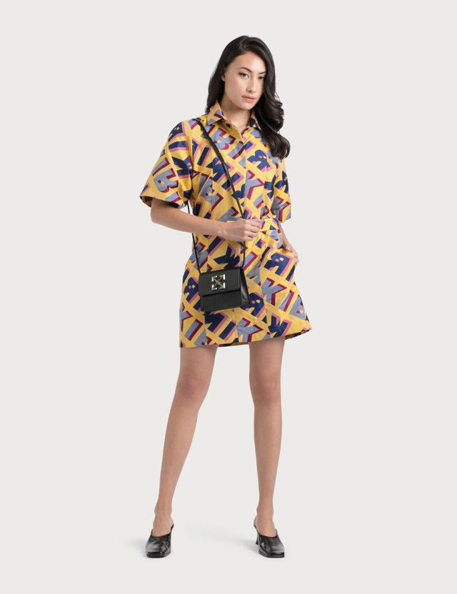 Kirin Typo Jacquard Shirt Dress
