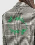 Off-White Houndstooth Tomboy Jacket Black Green Women
