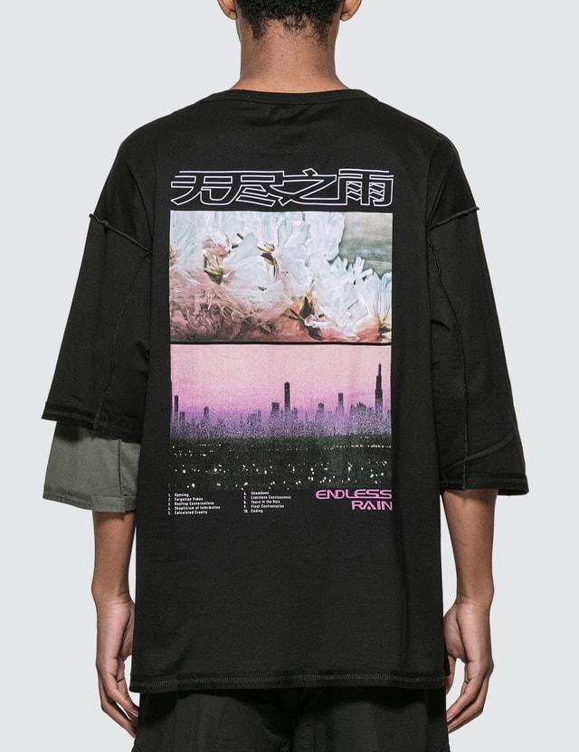 Guerrilla-group Endless Rain Asymmetric T-shirt