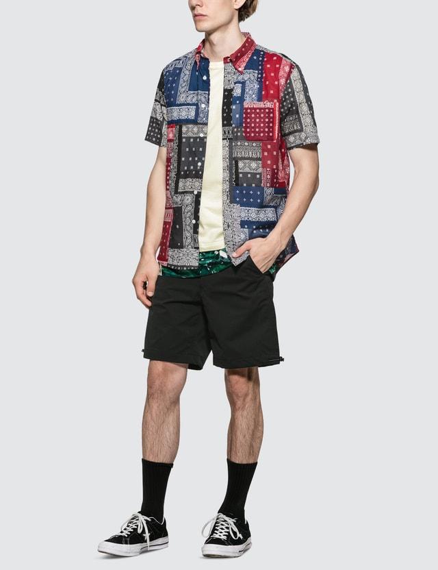 SOPHNET. S/S  Patch Work Regular Collar Shirt