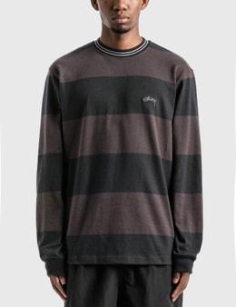 Stussy Moore Stripe Long Sleeve Crew T-Shirt