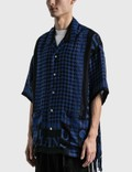 Mastermind World Fringe Stole Short Sleeve Shirt Blue Men