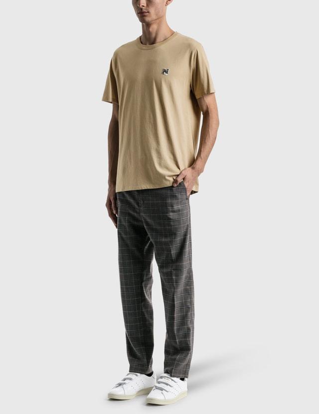 Maison Kitsune Grey Fox Head Patch Classic T-shirt Beige Men