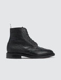 Thom Browne Classic Wingtip Boot W/ Leather Sole In Pebble Grain Picture