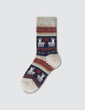 Tabio Kids Reindeer Pattern Socks Picture