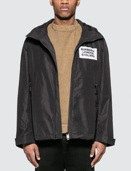 Burberry Detachable Hood Taffeta Jacket