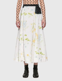 Marine Serre Flower Print Midi Skirt