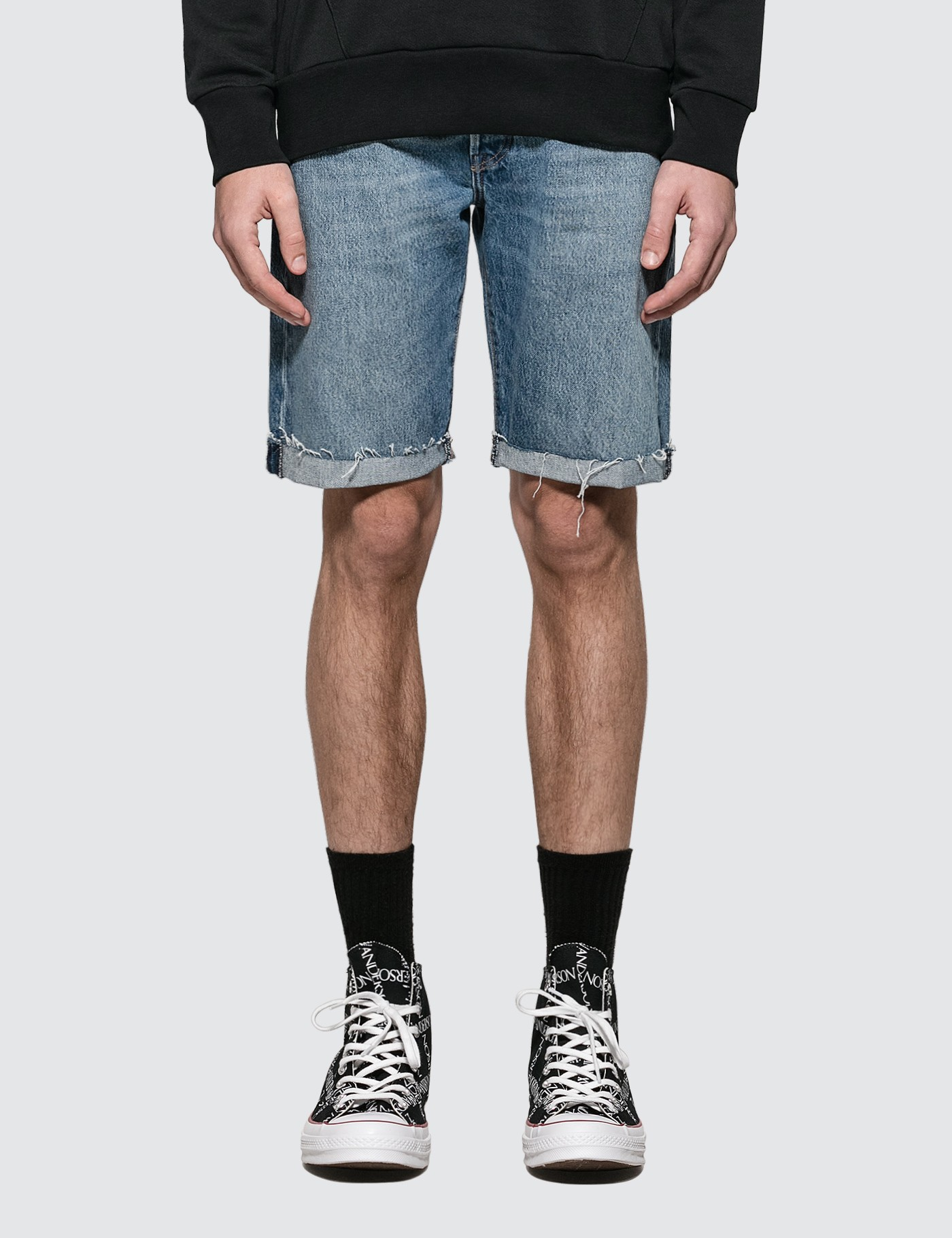 Leviu2019s 501 Original Cutoff Denim Shorts