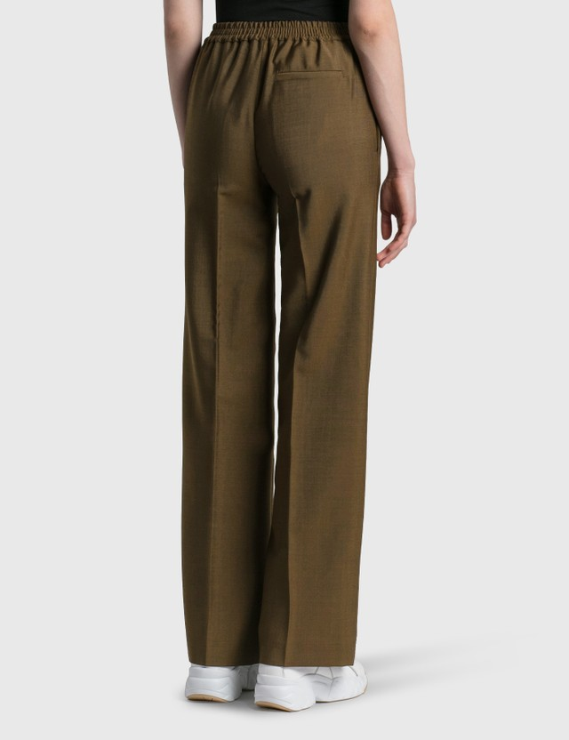 Acne Studios Wool Blend Trousers Cinnamon Brown Women