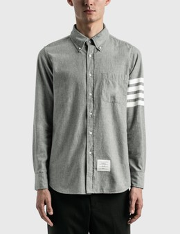 Thom Browne 4-Bar Chambray Shirt