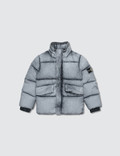 Stone Island Degrade Puffer Jacket With Packable Hoodie (Kids)