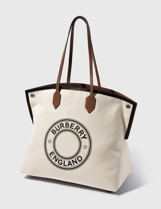 Burberry Large Logo Graphic Cotton Canvas Society Tote