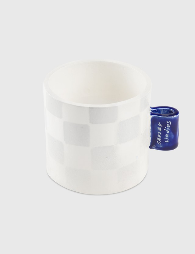 Crosby Studios Checkers Cup With Tag Grey Unisex