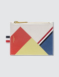Thom Browne Pebble Grain and Calf Leather Small Coin Purse with Directional Color Block & RWB Diagonal Stripe Picture
