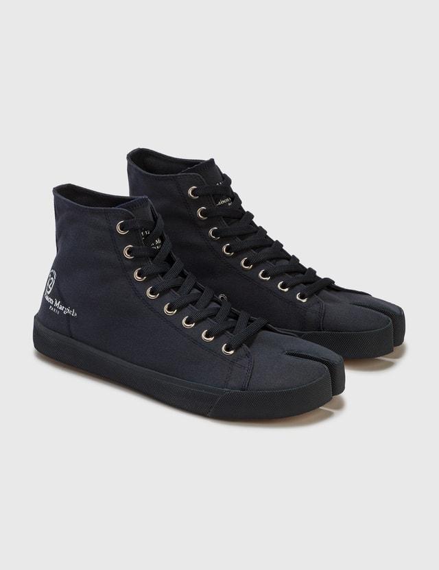 Maison Margiela Tabi High Top Sneaker Dark Navy Men