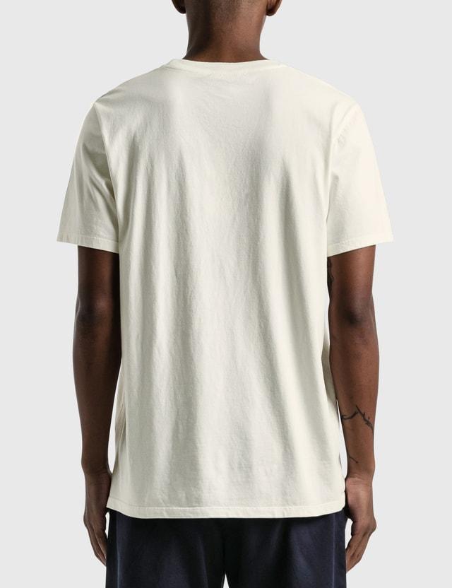 Maison Kitsune Double Fox Head Patch T-shirt Latte Men