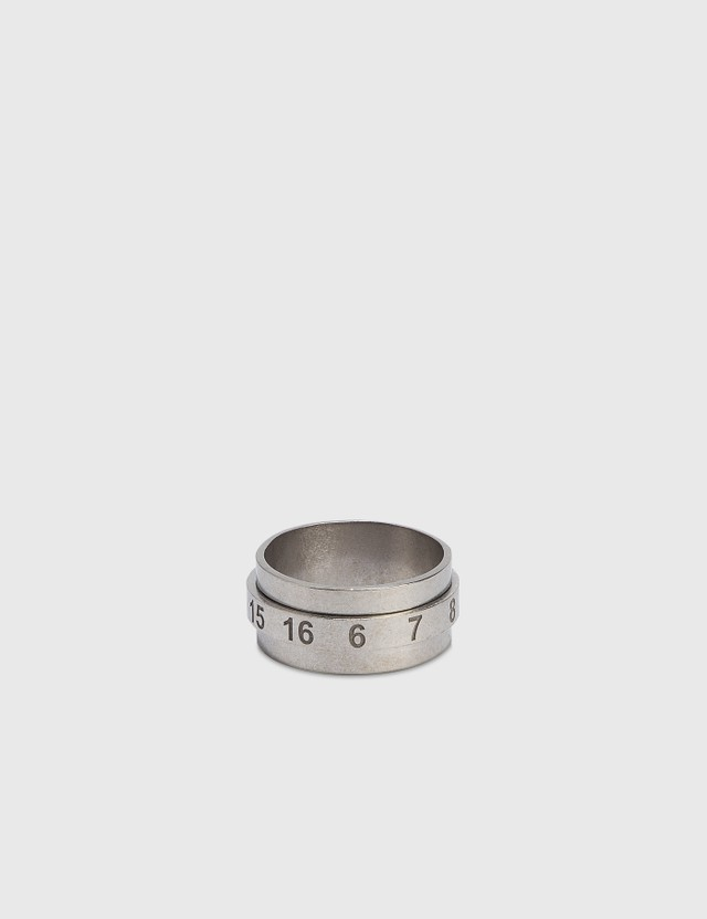 Maison Margiela Numbers Ring Palladiosemipolished Men
