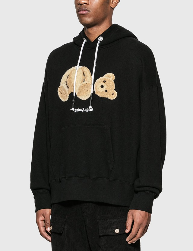 Palm Angels Palm Angels Bear Hoodie Black Brown Men