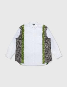 Comme des Garçons HOMME PLUS Comme Des Garçons Homme Plus White Patchwork Shirt