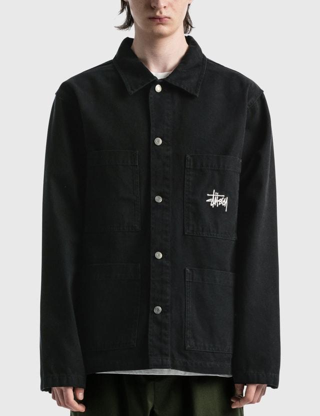 Stussy Canvas Chore Jacket Black Men