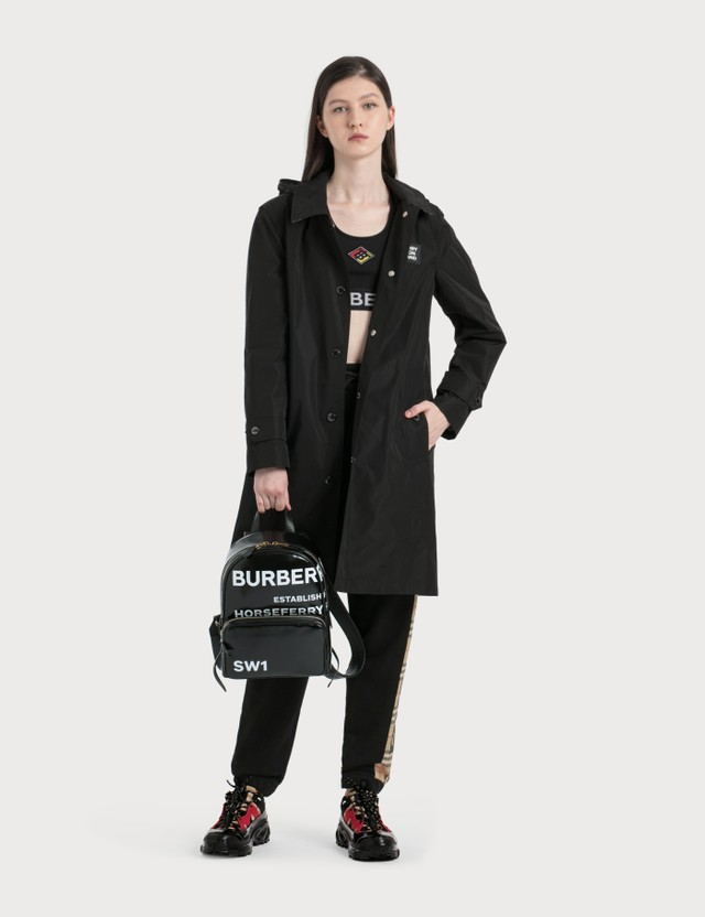Burberry Horseferry Print Coated Canvas Backpack