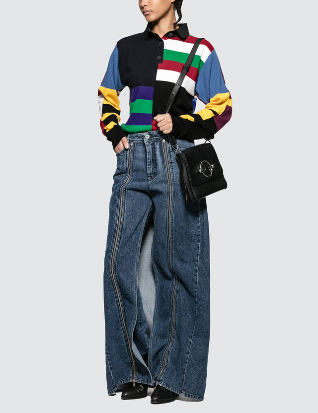 JW Anderson Knitted Stripe Rugby