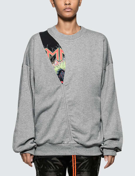 메종 마르지엘라 Maison Margiela Cut Out Fleece Sweatshirt