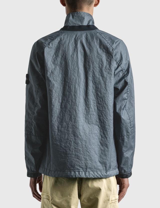 Stone Island Classic Zip Up Jacket Mid Blue  Men