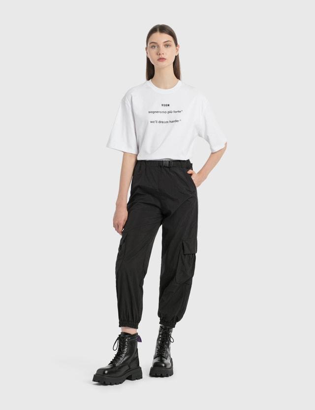 MSGM MSGM Lettering Print T-Shirt Optical White Women