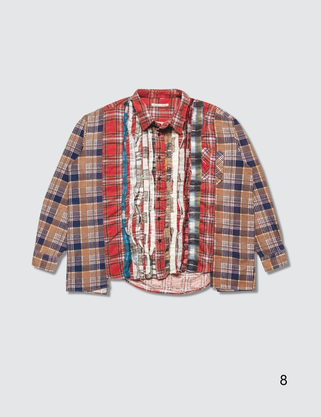 Needles Ribbon Cuts Flannel Shirt