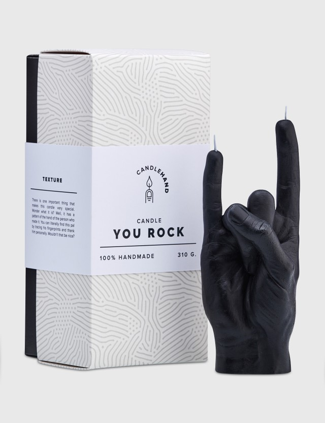 Candle Hand YOU ROCK Candle Black Unisex