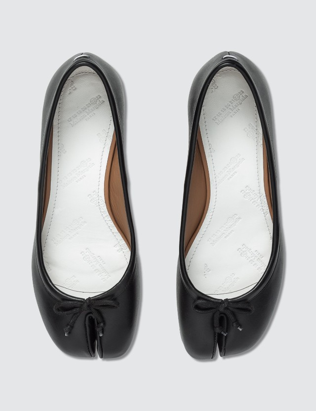 Maison Margiela Tabi Leather Ballerina Pumps