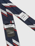 Thom Browne Striped Giraffe Graphic Tie Navy Men