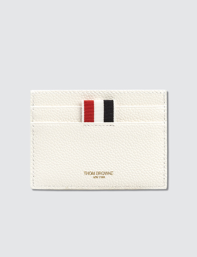 887774d438 Thom Browne Small Buffalo Check Printed Pebble Grain Leather Single Card  Holder