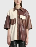 Nanushka Roque Leather Shirt 사진