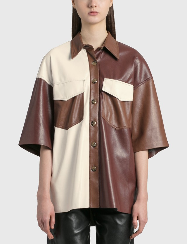 Nanushka Roque Leather Shirt