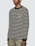 Carhartt Work In Progress Scotty Pocket Long Sleeve T-Shirt Scotty Stripe, Black / Wax Men